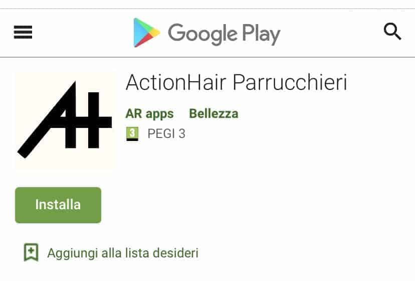 App ActionHair Parrucchieri
